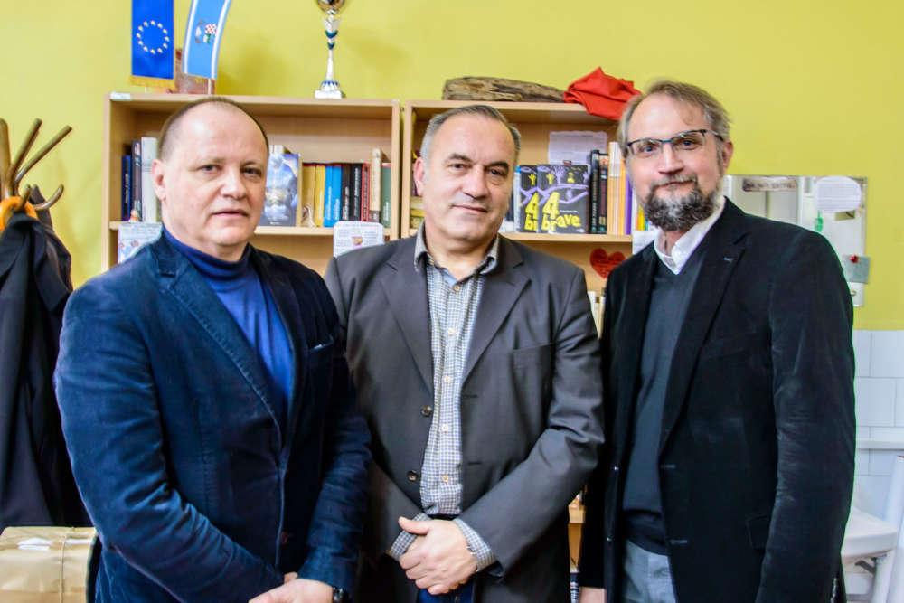 Ravnatelj KBC-a, prof. dr. Davor Štimac, dekan MedRi, prof. dr. Tomislav Rukavina i doc. dr. Vladimir Mozetič, ravnatelj Doma zdravlja PGŽ