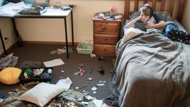 nepospremljena dječja soba