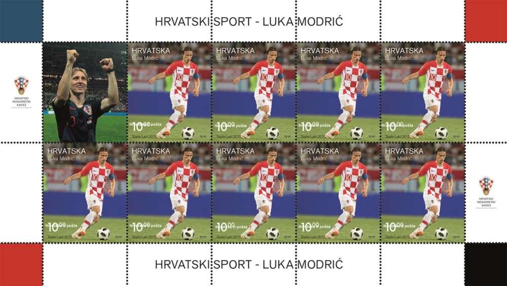 Najbolji nogometaš svijeta Luka Modrić na poštanskoj marki!
