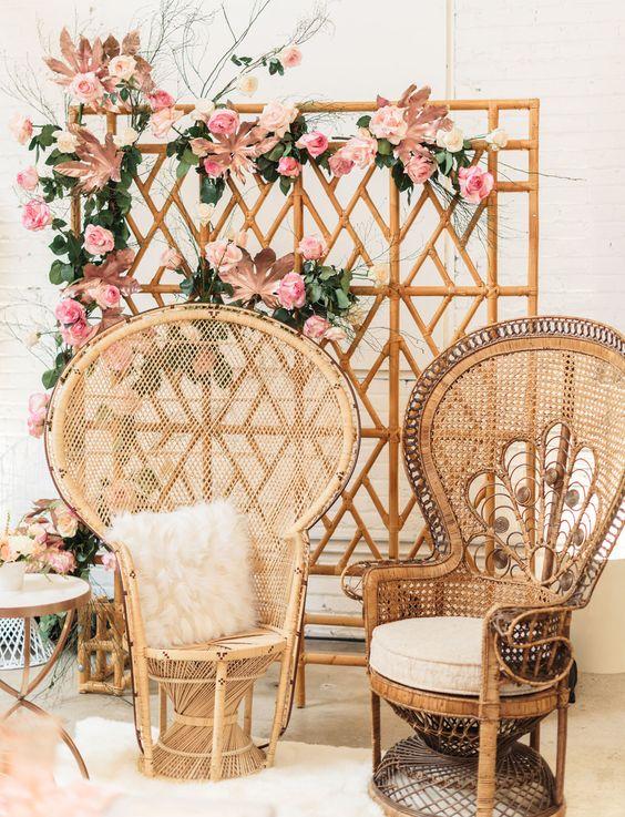 drvene fotelje vjenčanja
