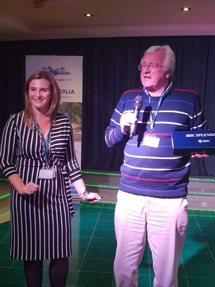 Sandra Čolik iz turističke agencije za krstarenja Drago Bulc predsjednik društva turističkih novinara Slovenije