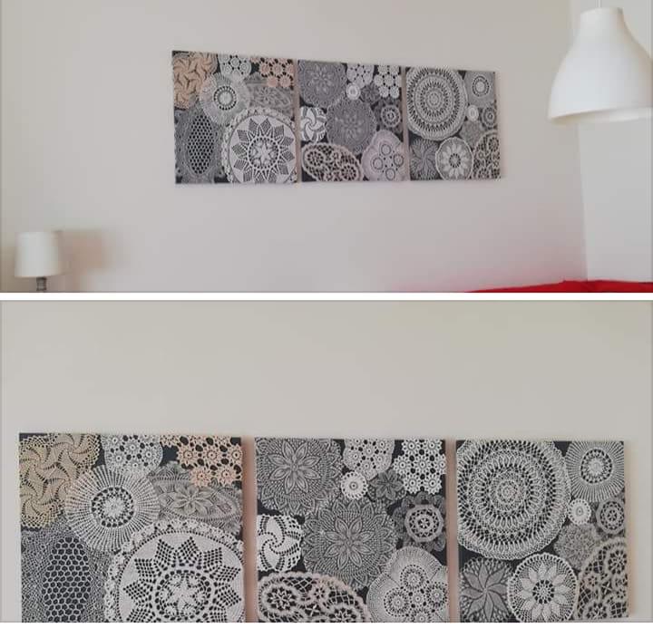 stolnjak slika na zid