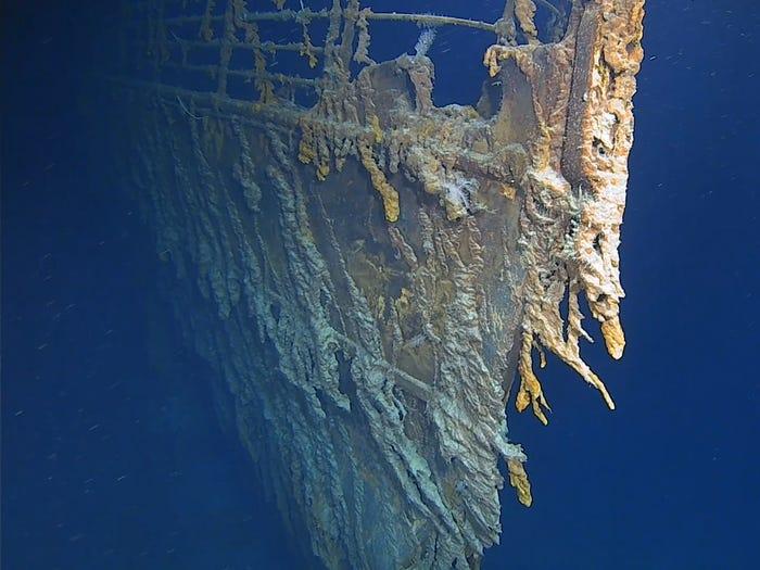 Fotografija pramaca Titanica snimljena tijekom ekspedicije u kolovozu 2019.  Atlantic Productions