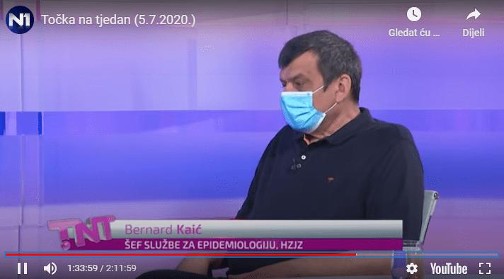"""Bernard Kaić: """"Ako se svi zatvorimo na mjesec dana transmisija virusa bi se zaustavila – uz ogromne štete"""""""
