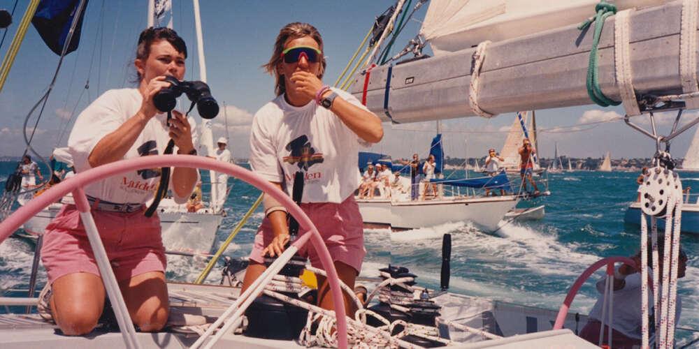 Jedriličarke s broda Maiden