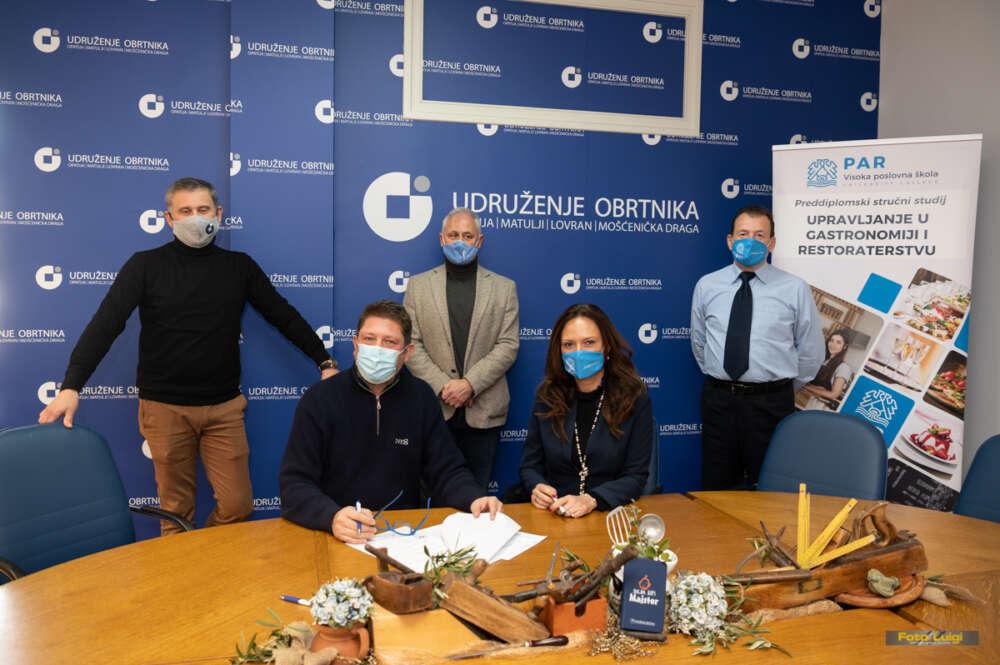 Potpisana suradnja između Visoke poslovne škole PAR i Udruženja obrtnika Opatija, Matulji, Lovran i Mošćenička Draga